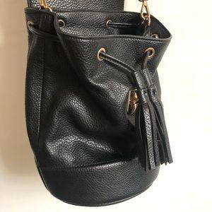 Zara Black Bucket Bag EUC